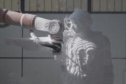 """Prima fase di lavorazione della statua per lo spettacolo """"ORESTEA / AGAMENNONE SCHIAVI CONVERSIO"""""""